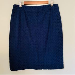 Talbots Skirts - Talbots Circle Lace Overlay Pencil Skirt Size 14